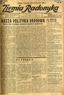 Ziemia Radomska, 1934, R. 7, nr 20