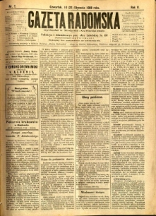 Gazeta Radomska, 1888, R. 5, nr 7