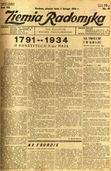 Ziemia Radomska, 1934, R. 7, nr 27