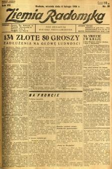 Ziemia Radomska, 1934, R. 7, nr 29
