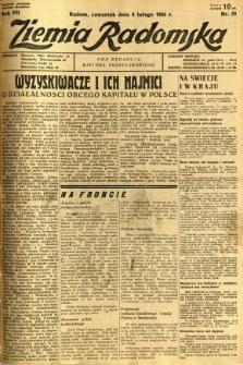Ziemia Radomska, 1934, R. 7, nr 31