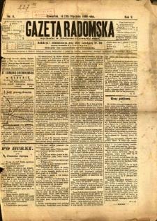 Gazeta Radomska, 1888, R. 5, nr 8