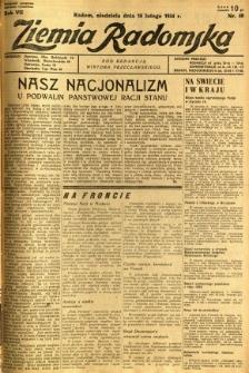 Ziemia Radomska, 1934, R. 7, nr 40