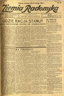 Ziemia Radomska, 1934, R. 7, nr 41