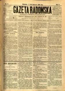 Gazeta Radomska, 1888, R. 5, nr 9