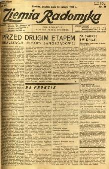 Ziemia Radomska, 1934, R. 7, nr 44