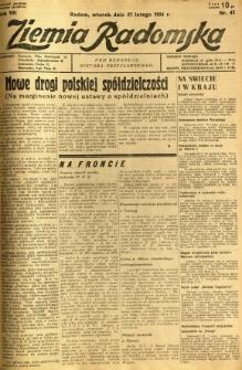 Ziemia Radomska, 1934, R. 7, nr 47
