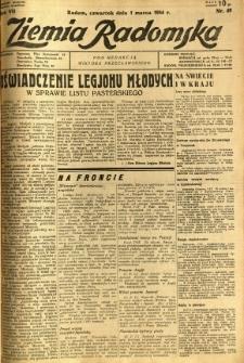 Ziemia Radomska, 1934, R. 7, nr 49