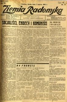 Ziemia Radomska, 1934, R. 7, nr 54