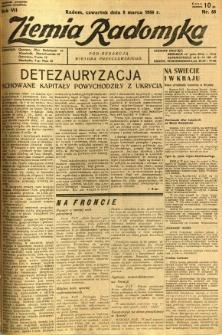 Ziemia Radomska, 1934, R. 7, nr 55