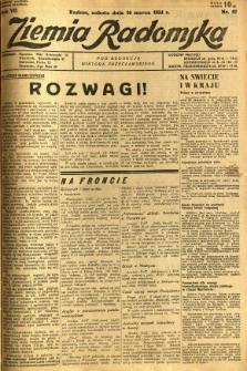 Ziemia Radomska, 1934, R. 7, nr 57