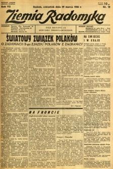 Ziemia Radomska, 1934, R. 7, nr 72