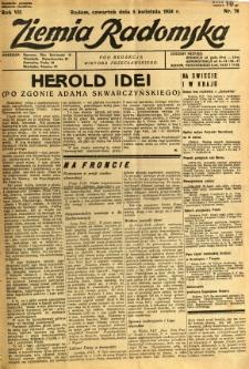 Ziemia Radomska, 1934, R. 7, nr 76