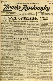 Ziemia Radomska, 1934, R. 7, nr 81