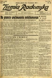 Ziemia Radomska, 1934, R. 7, nr 83