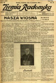 Ziemia Radomska, 1934, R. 7, nr 85