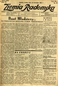 Ziemia Radomska, 1934, R. 7, nr 87