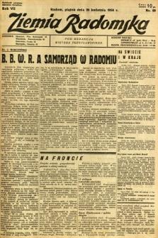 Ziemia Radomska, 1934, R. 7, nr 89