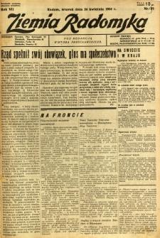 Ziemia Radomska, 1934, R. 7, nr 91