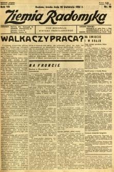 Ziemia Radomska, 1934, R. 7, nr 92