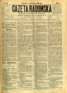 Gazeta Radomska, 1888, R. 5, nr 16