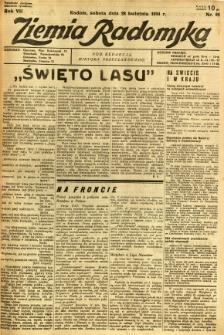 Ziemia Radomska, 1934, R. 7, nr 95