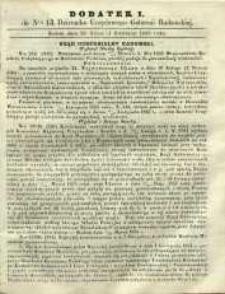 Dziennik Urzędowy Gubernii Radomskiej, 1865, nr 13, dod. I