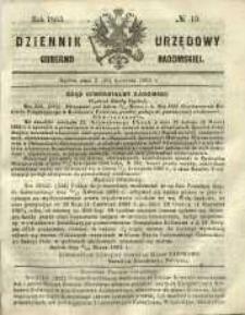 Dziennik Urzędowy Gubernii Radomskiej, 1865, nr 15