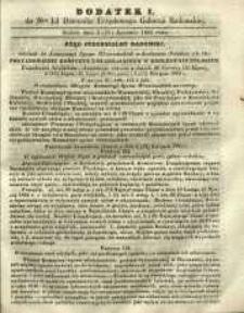 Dziennik Urzędowy Gubernii Radomskiej, 1865, nr 15, dod. I