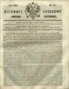 Dziennik Urzędowy Gubernii Radomskiej, 1865, nr 16