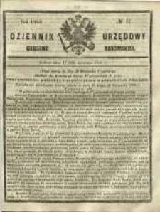 Dziennik Urzędowy Gubernii Radomskiej, 1865, nr 17