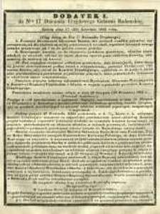 Dziennik Urzędowy Gubernii Radomskiej, 1865, nr 17, dod. I