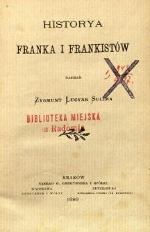 Historya Franka i Frankistów