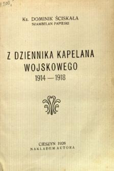 Z dziennika Kapelana Wojskowego 1914-1918