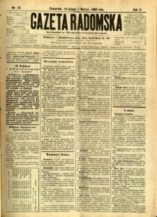 Gazeta Radomska, 1888, R. 5, nr 18