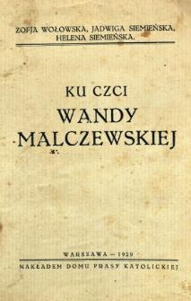Ku czci Wandy Malczewskiej
