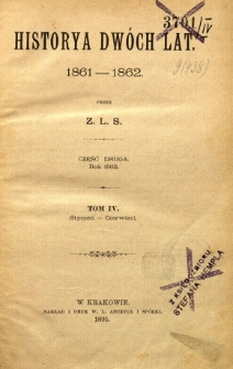 Historya dwóch lat : 1861-1862