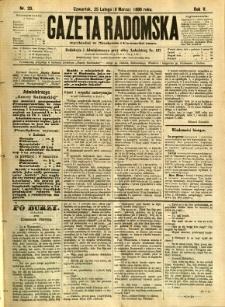 Gazeta Radomska, 1888, R. 5, nr 20