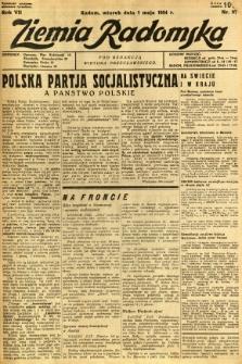 Ziemia Radomska, 1934, R. 7, nr 97