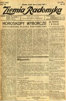 Ziemia Radomska, 1934, R. 7, nr 98