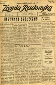Ziemia Radomska, 1934, R. 7, nr 101
