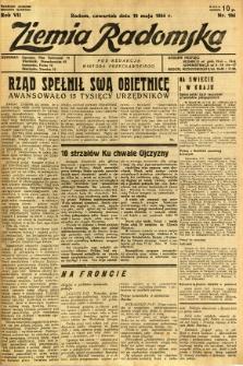 Ziemia Radomska, 1934, R. 7, nr 104