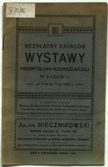 Bezpłatny katalog Wystawy Przemysłowo-Rzemieślniczej w Radomiu