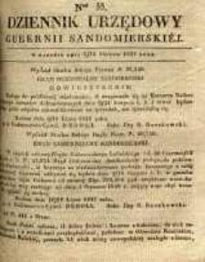 Dziennik Urzędowy Gubernii Sandomierskiej, 1837, nr 33