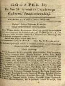 Dziennik Urzędowy Gubernii Sandomierskiej, 1837, nr 33, dod. I