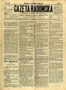 Gazeta Radomska, 1888, R. 5, nr 23