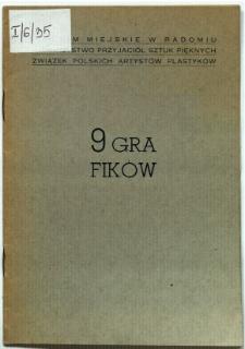 """Katalog wystawy """"9 Grafików"""""""