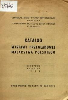 Katalog wystawy przeglądowej malarstwa polskiego