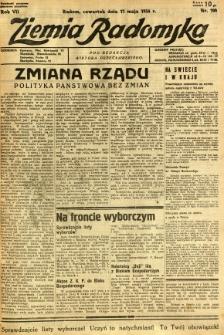 Ziemia Radomska, 1934, R. 7, nr 109