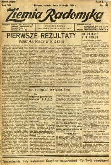 Ziemia Radomska, 1934, R. 7, nr 111